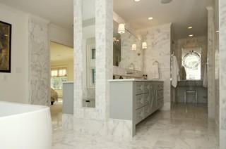 新古典风格一层别墅及大气品牌浴室柜效果图