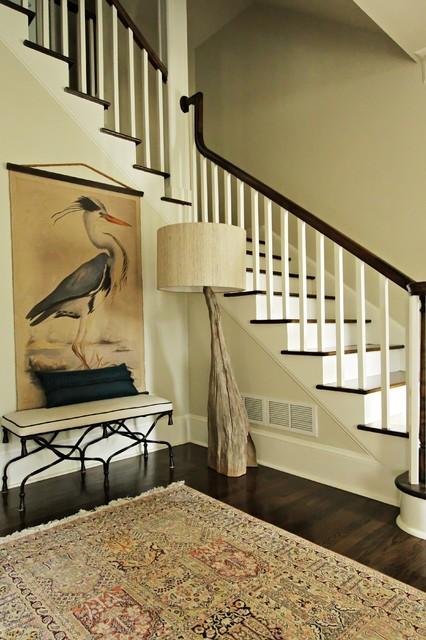 新古典风格客厅2层别墅大气大理石楼梯效果图高清图片