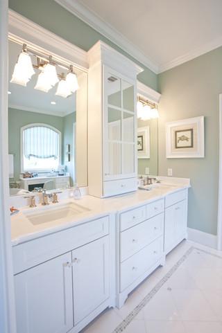 欧式风格客厅一层别墅及豪华卫生间品牌浴室柜效果图
