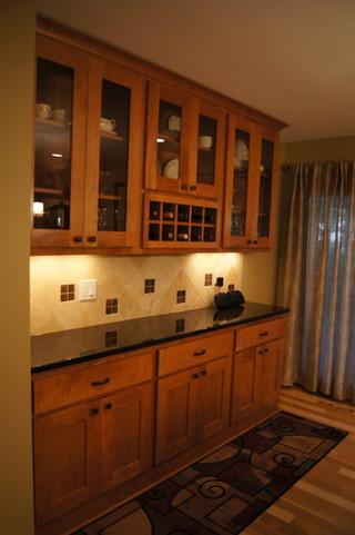 美式风格客厅三层独栋别墅温馨装饰家装酒柜效果图