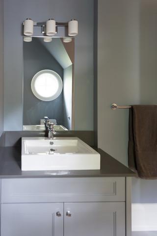 现代简约风格2013别墅简洁卧室灰色窗帘效果图