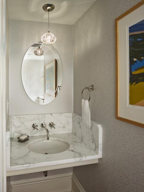 混搭风格一层别墅舒适一体式台盆效果图