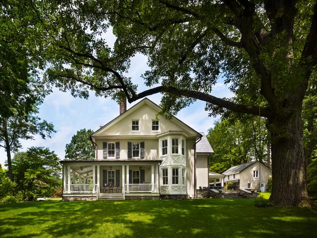 混搭风格一层半小别墅舒适花园洋房设计图纸