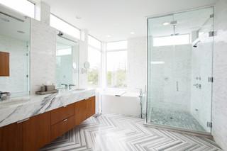 现代简约风格客厅一层半别墅大方简洁客厅整体淋浴房设计图