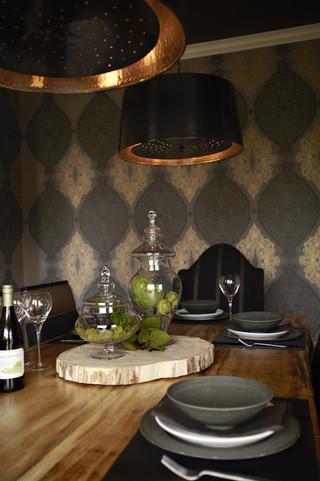 混搭风格客厅一层半别墅唯美红木家具餐桌图片