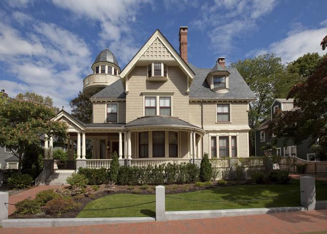 新古典风格三层别墅及豪华室内庭院围墙装修