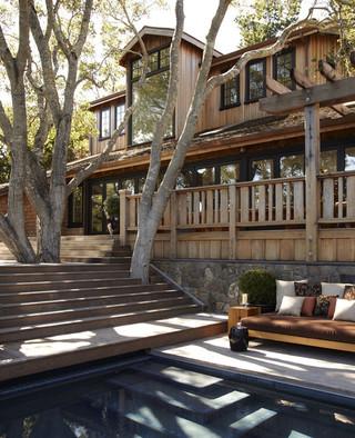 新古典风格三层半别墅豪华欧式卧室私家庭院装修