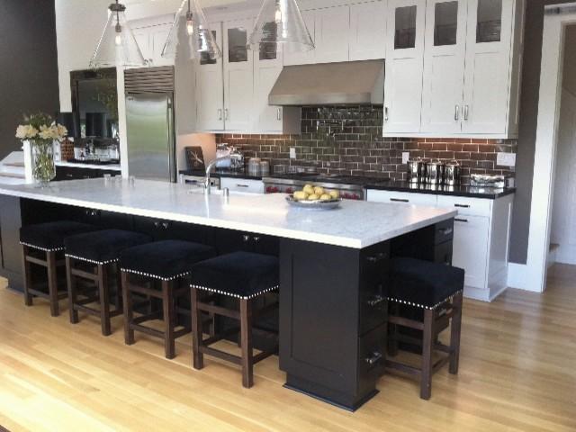 新古典风格一层别墅及豪华室内折叠餐桌效果图