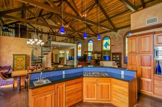 地中海风格室内200平米别墅艺术家具小户型开放式厨房效果图