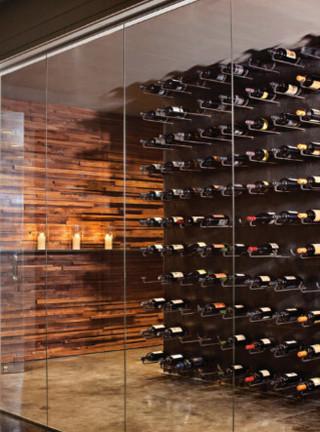 现代简约风格餐厅三层连体别墅现代时尚客厅家庭装修酒柜效果图