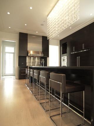 现代简约风格厨房三层小别墅时尚家居装饰家庭吧台隔断设计