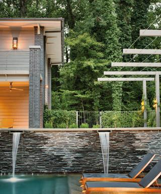 现代简约风格餐厅200平米别墅时尚衣柜别墅游泳池装修图片
