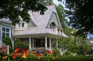 美式风格一层别墅豪华欧式卧室别墅庭院装修效果图