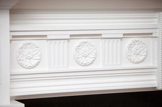 现代美式风格300平别墅别墅豪华浮雕背景墙装修图片