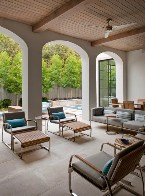 欧式风格客厅三层别墅及简洁卧室玻璃阳光房效果图