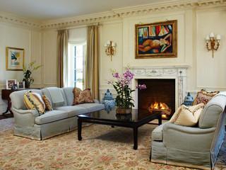 欧式风格家具三层平顶别墅简洁卧室灰色窗帘装修效果图