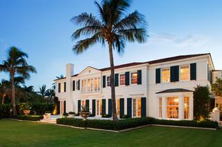 地中海风格客厅三层别墅及大气白色家居效果图