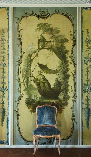 地中海风格室内3层别墅艺术家具绿色橱柜装修图片