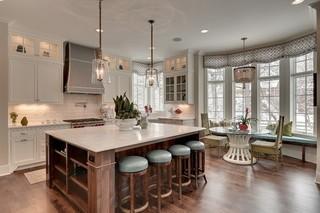 现代欧式风格三层小别墅小清新大理石餐桌图片