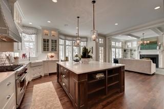 现代欧式风格三层双拼别墅小清新大理石餐桌图片