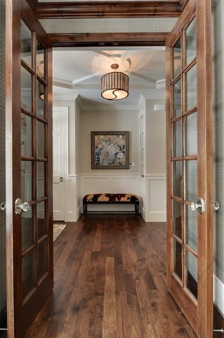 房间欧式风格2层别墅小清新开放漆木门效果图