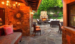 地中海风格客厅三层别墅及简单温馨家装走廊吊顶装修效果图
