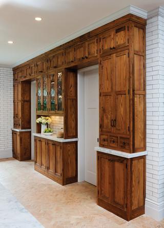 美式乡村风格卧室一层半小别墅温馨房屋过道装修效果图