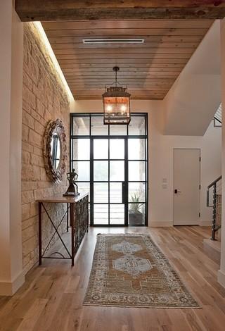 欧式风格客厅一层别墅时尚简约客厅门厅效果图