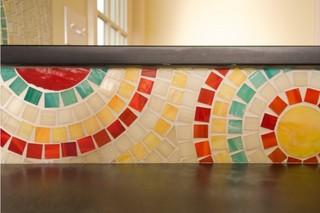 宜家风格三层独栋别墅可爱房间餐厅背景墙设计