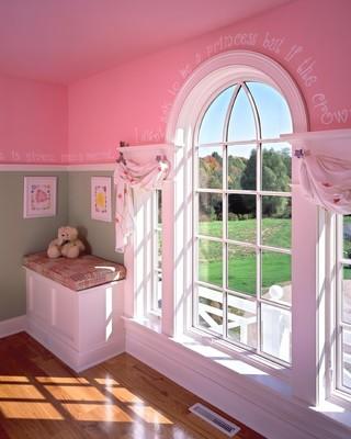 欧式风格卧室2014年别墅可爱粉色装修效果图