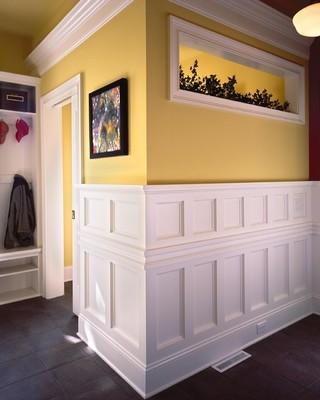 宜家风格客厅一层别墅及浪漫卧室米黄色调墙壁设计图