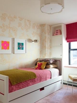 宜家风格客厅单身公寓小清新卧室粉色装修效果图