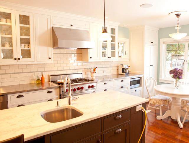 简欧风格200平米别墅舒适开放式厨房餐厅效果图图片