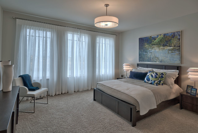 现代简约风格厨房一层半小别墅简洁卧室12平米卧室装修效果图