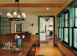 现代简约风格卧室一层半小别墅大方简洁客厅厨房餐厅客厅一体效果图