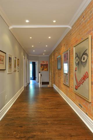 现代简约风格卧室300平别墅大方简洁客厅进门过道吊顶效果图