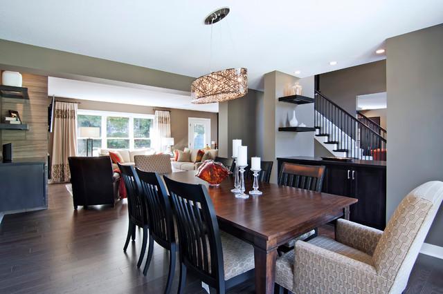 现代简约风格厨房2层别墅时尚家具圆形餐桌图片