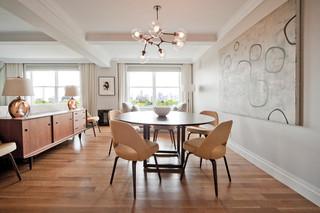 现代简约风格厨房小型公寓简洁厨房和餐厅设计图纸