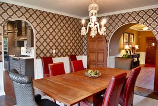 现代简约风格卫生间一层别墅时尚简约客厅和餐厅的效果图