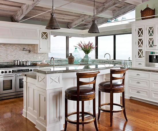 现代简约风格小型公寓时尚室内半开放式厨房装修图片