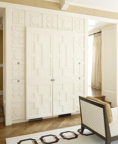 别墅及时尚卧室免漆板衣柜效果图高清图片