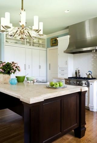 现代简约风格三层半别墅现代简洁开放式厨房餐厅装修效果图