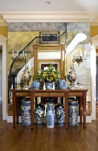 现代简约风格三层独栋别墅时尚客厅厨房收纳架图片