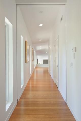 现代美式风格三层双拼别墅现代时尚进门过道吊顶装修图片