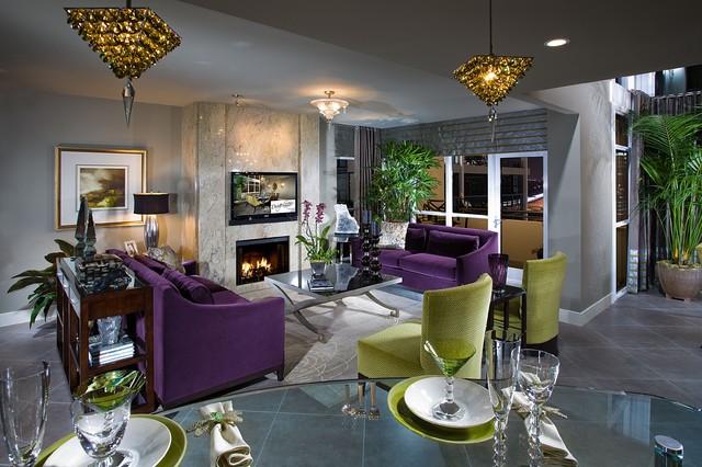 欧式风格卧室三层连体别墅装修效果图