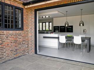 简欧风格卫生间一层半别墅现代简洁2014家装厨房装修效果图