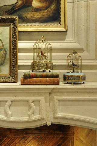 欧式风格客厅三层别墅及温馨卧室大客厅电视背景墙设计图纸