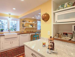 新古典风格200平米别墅低调奢华半开放式厨房效果图