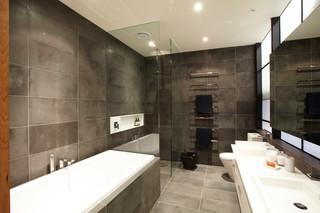 现代简约风格卧室300平别墅客厅简洁主卫生间装修效果图