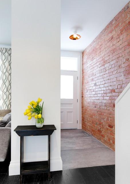 现代简约风格餐厅三层平顶别墅白色橱柜设计图